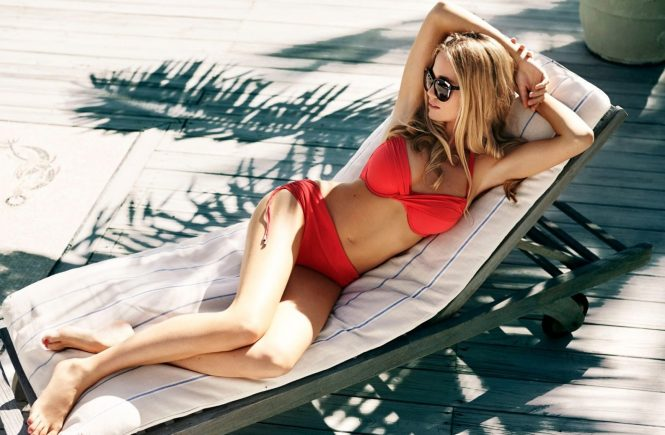 Former British Royal girlfriend Florence Brudenell-Bruce in swimwear campaign for Rigby & Peller. Sunglasses – Heidi London., Image: 229952429, License: Rights-managed, Restrictions: FOR EDITORIAL USE ONLY., Model Release: no, Credit line: Profimedia, TEMP Camerapress