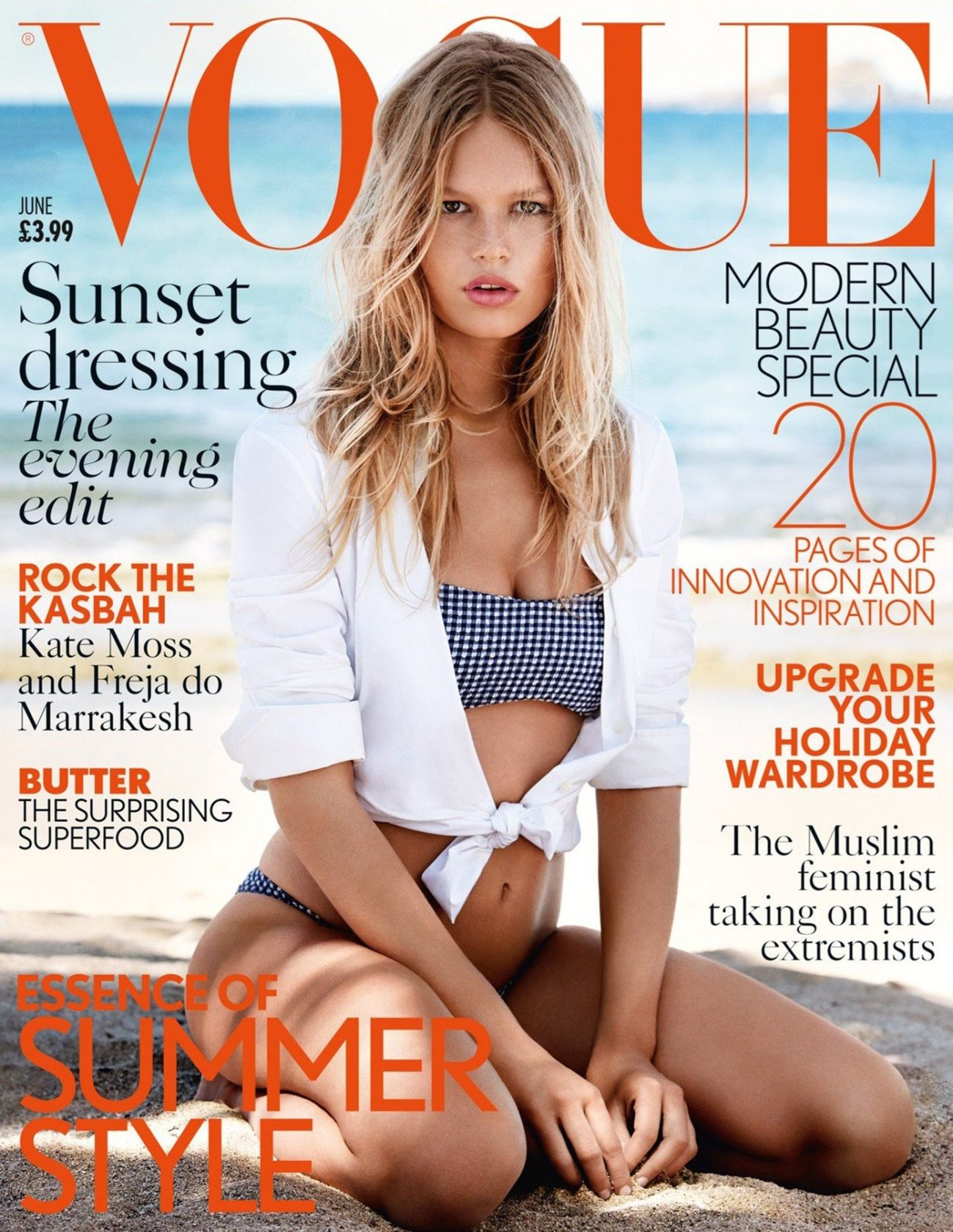 Anna Ewers in the cover of Vogue magazine UK edition june2015, Image: 242381456, License: Rights-managed, Restrictions: , Model Release: no, Credit line: Profimedia, Thunder Press