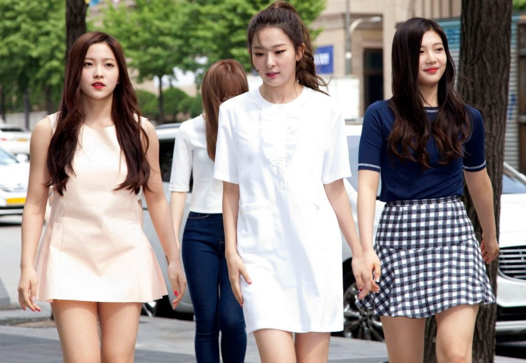 2 June 2015 - Seoul, South Korea : South Korean K-Pop girl group Red Velvet, arrived photo call for party to celebrate publication of a 'Actress makeup book and Girl Group makeup book' event at Street Cafe in Seoul, South Korea on June 2, 2015., Image: 247353751, License: Rights-managed, Restrictions: *** World Rights ***, Model Release: no, Credit line: Profimedia, SIPA USA