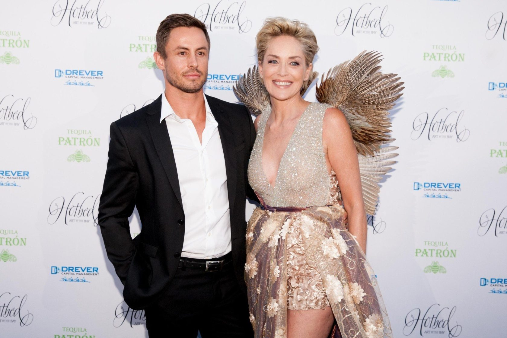 141530, Galen Drever and Sharon Stone attend the Fourth Annual Hotbed Gala at The Drever Estate in Tiburon. Tiburon, California - Saturday August 22, 2015., Image: 256374032, License: Rights-managed, Restrictions: , Model Release: no, Credit line: Profimedia, Pacific coast news