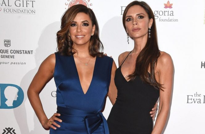 Eva Longoria and Victoria Beckham attend the 6th edition of The Global Gift Gala at the Four Seasons Hotel London at Park Lane with Eva Longoria as Honorary Chair., Image: 268006149, License: Rights-managed, Restrictions: FOR EDITORIAL USE ONLY. NOT FOR COVER USAGE., Model Release: no, Credit line: Profimedia, TEMP Camerapress