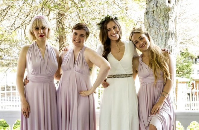 Girls (2012-) (Season 5) Zosia Mamet, Lena Dunham, Allison Williams, Jemima Kirke *Filmstill - Editorial Use Only*, Image: 274704334, License: Rights-managed, Restrictions: *Filmstill - Editorial Use Only*, Model Release: no, Credit line: Profimedia, Film Stills