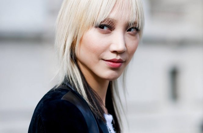Street style, model Soo Joo after Chanel Fall-Winter 2016-2017 show held at Grand Palais, in Paris, France, on March 8, 2016., Image: 277225110, License: Rights-managed, Restrictions: , Model Release: no, Credit line: Profimedia, Abaca