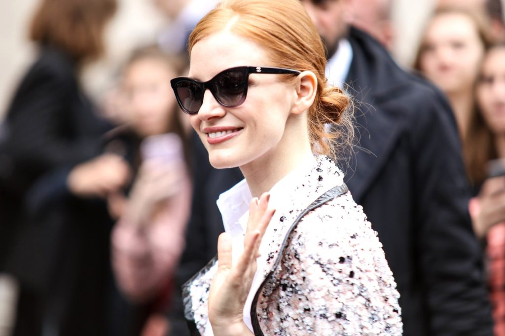 Jessica Chastain attending the Chanel Haute Couture Fall/Winter 2016-2017 show as part of Paris Fashion Week on July 5, 2016 in Paris, France., Image: 293292304, License: Rights-managed, Restrictions: *** World Rights ***, Model Release: no, Credit line: Profimedia, SIPA USA