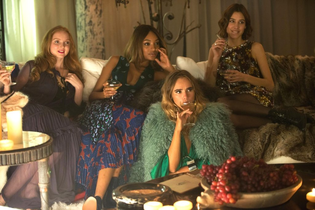ABSOLUTELY FABULOUS: THE MOVIE, from left: Lily Cole, Jourdan Dunn, Suki Waterhouse, Alexa Chung, 2016., Image: 295077659, License: Rights-managed, Restrictions: ©Fox Searchlight/Courtesy Everett Collection, Model Release: no, Credit line: Profimedia, Everett