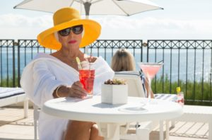 Absolutely Fabulous: The Movie (2016) Joan Collins as herself *Filmstill - Editorial Use Only*, Image: 296084389, License: Rights-managed, Restrictions: , Model Release: no, Credit line: Profimedia, Film Stills