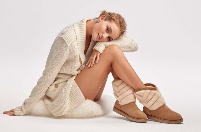 English fashion model Rosie Huntington-Whiteley poses for UGG Winter 2016 collection., Image: 305920080, License: Rights-managed, Restrictions: EDITORIAL USE ONLY, Model Release: no, Credit line: Profimedia, Balawa Pics