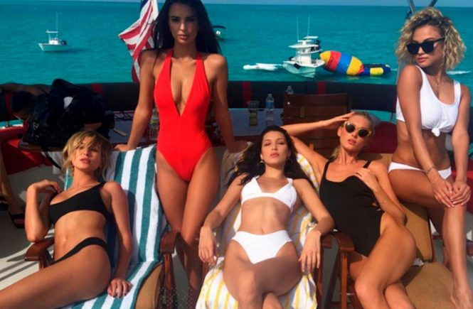 13 December 2016 Hailey Baldwin, Emily Ratajkowski, Bella Hadid and Elsa Hosk seen in this celebrity social media picture!, Image: 308382056, License: Rights-managed, Restrictions: **UK CLIENTS MUST CALL PRIOR TO TV OR ONLINE USAGE PLEASE TELEPHONE +44 208 344 2007***Xposure Photos does not claim any Copyright or License in the attached material**, Model Release: no, Credit line: Profimedia, Xposurephotos