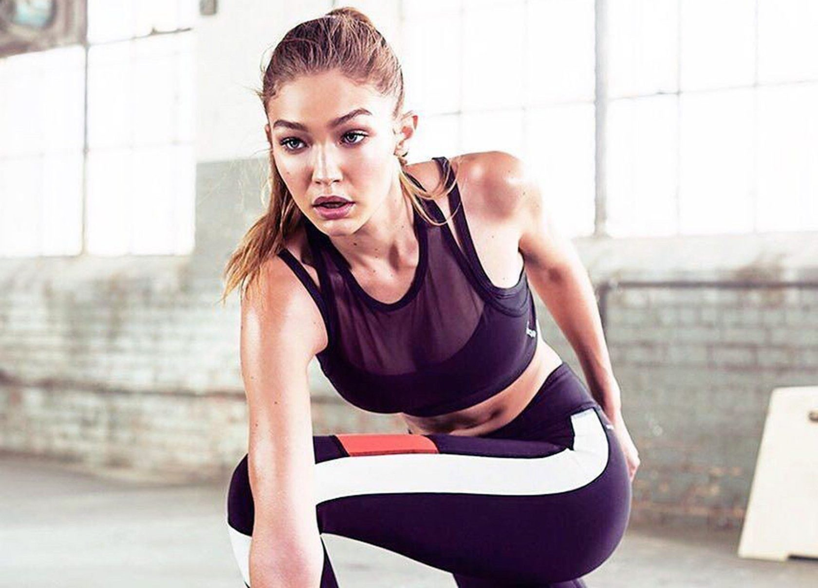 American fashion model Gigi Hadid as the Reebok«s ambassador in their Perfect Never 2017 advertising campaign., Image: 312960671, License: Rights-managed, Restrictions: EDITORIAL USE ONLY, Model Release: no, Credit line: Profimedia, Balawa Pics