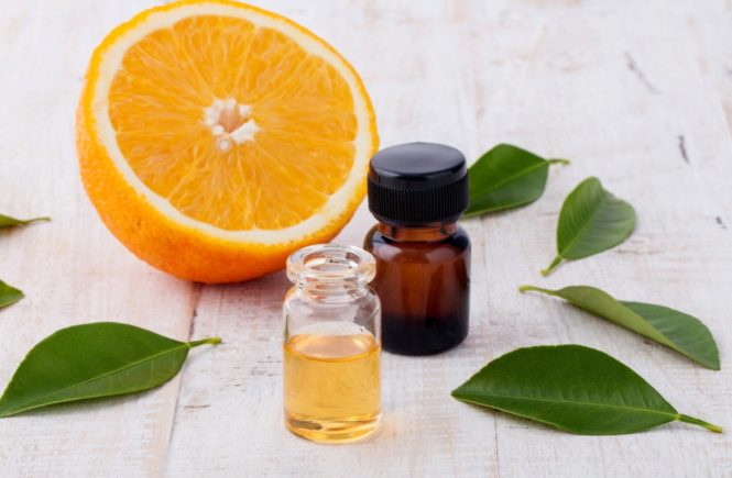 Natural Spa Ingredients . - Essential aroma oil with orange., Image: 318959653, License: Royalty-free, Restrictions: , Model Release: no, Credit line: Profimedia, Alamy