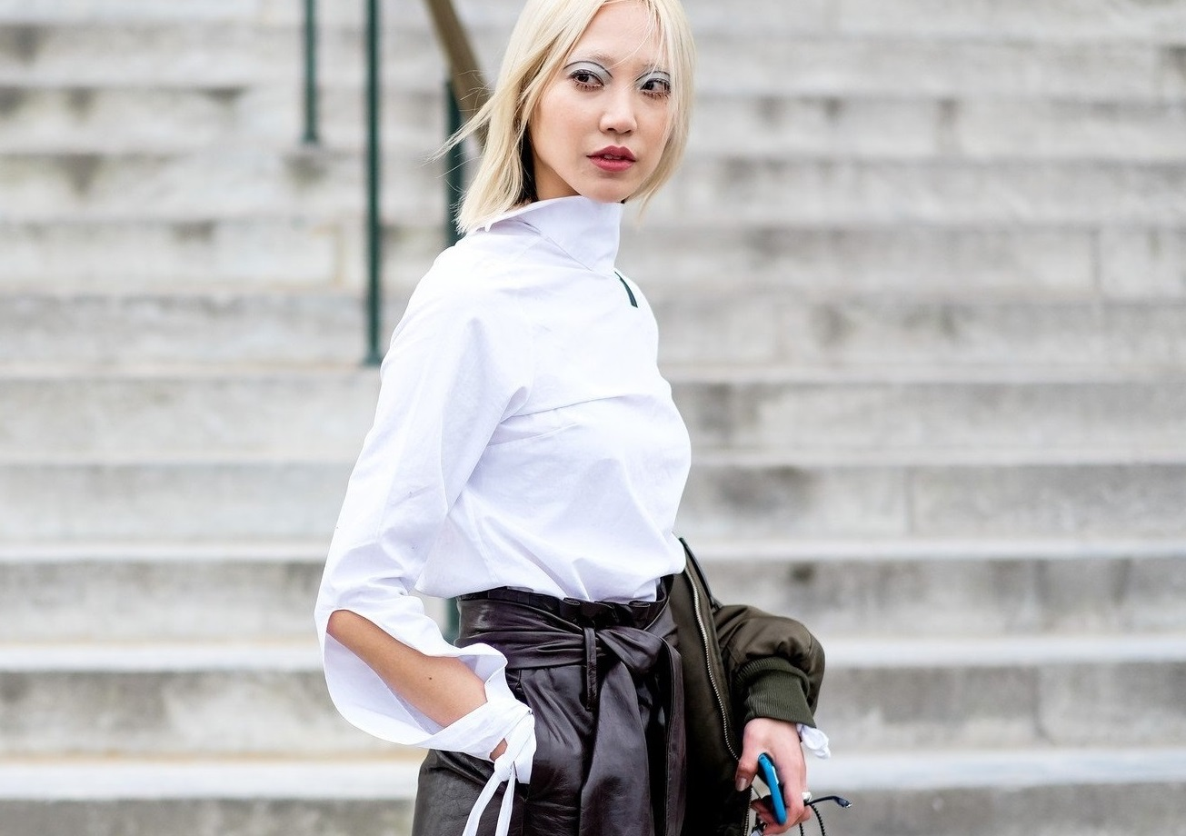 Street style, model Soo Joo after Chanel Fall-Winter 2017-2018 show held at Grand Palais, in Paris, France, on March 7th, 2017., Image: 324211595, License: Rights-managed, Restrictions: , Model Release: no, Credit line: Profimedia, Abaca
