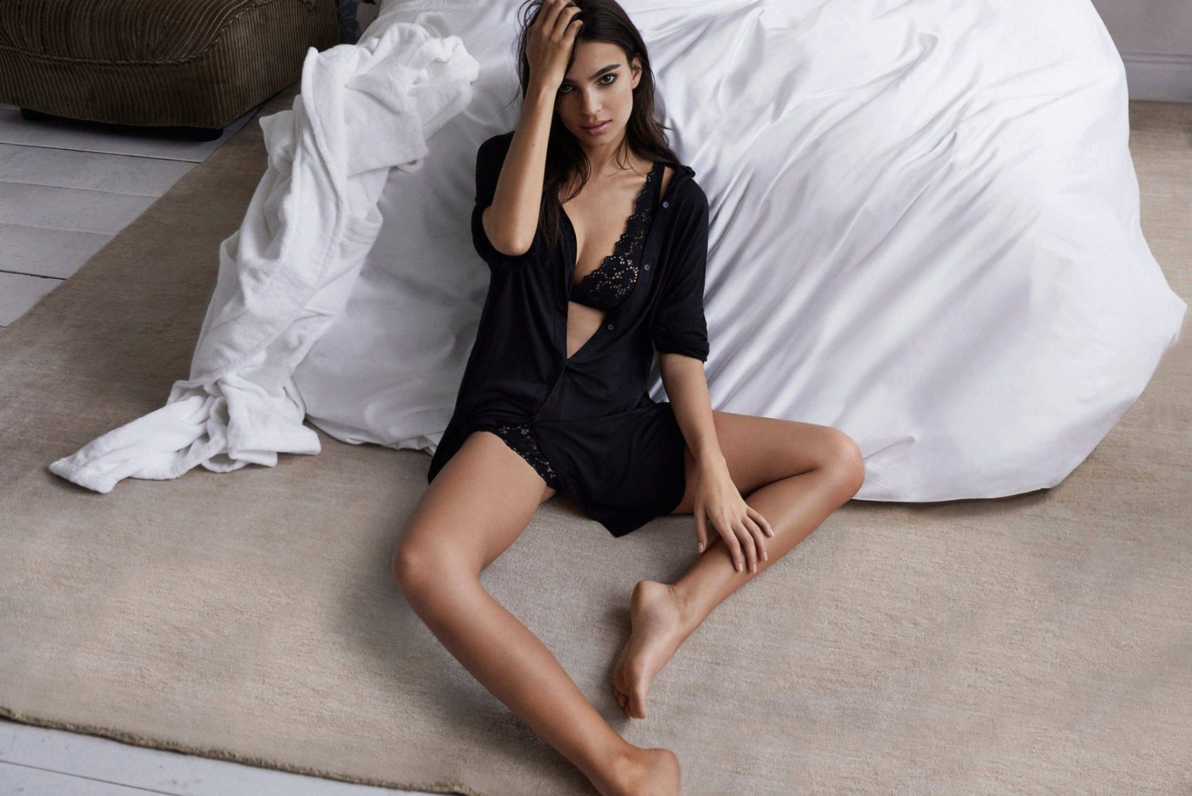 Emily Ratajkowski is the face for the new Spring 2017 lingerie campaign of DKNY, Image: 325162246, License: Rights-managed, Restrictions: , Model Release: no, Credit line: Profimedia, Thunder Press