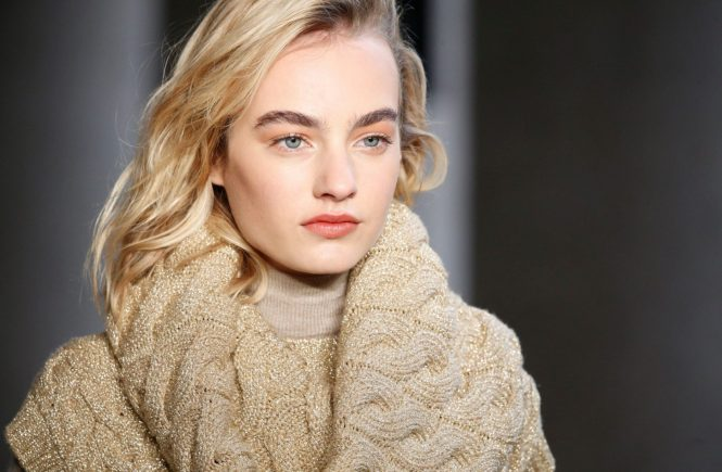 FOR EDITORIAL USE ONLY. Max Mara Milan Ready to Wear. Autumn/Winter 2017. Dutch model Maartje Verhoef. ALTERNATIVE IMAGES AVAILABLE ON REQUEST., Image: 327211539, License: Rights-managed, Restrictions: , Model Release: no, Credit line: Profimedia, TEMP Camerapress