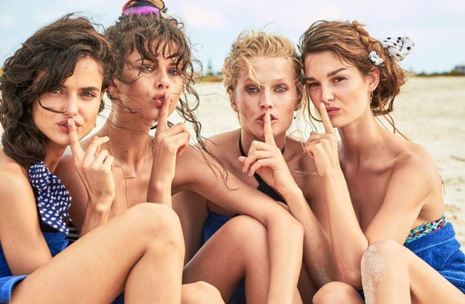 Fashion models Spanish Blanca Padilla and German Toni Garrn star in Calzedonia Spring Summer 2017 swimwear collection., Image: 329528961, License: Rights-managed, Restrictions: EDITORIAL USE ONLY, Model Release: no, Credit line: Profimedia, Balawa Pics