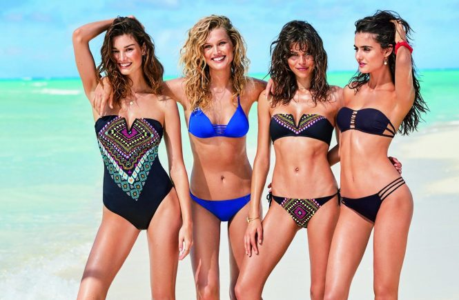 Fashion models Spanish Blanca Padilla and German Toni Garrn star in Calzedonia Spring Summer 2017 swimwear collection., Image: 329529064, License: Rights-managed, Restrictions: EDITORIAL USE ONLY, Model Release: no, Credit line: Profimedia, Balawa Pics