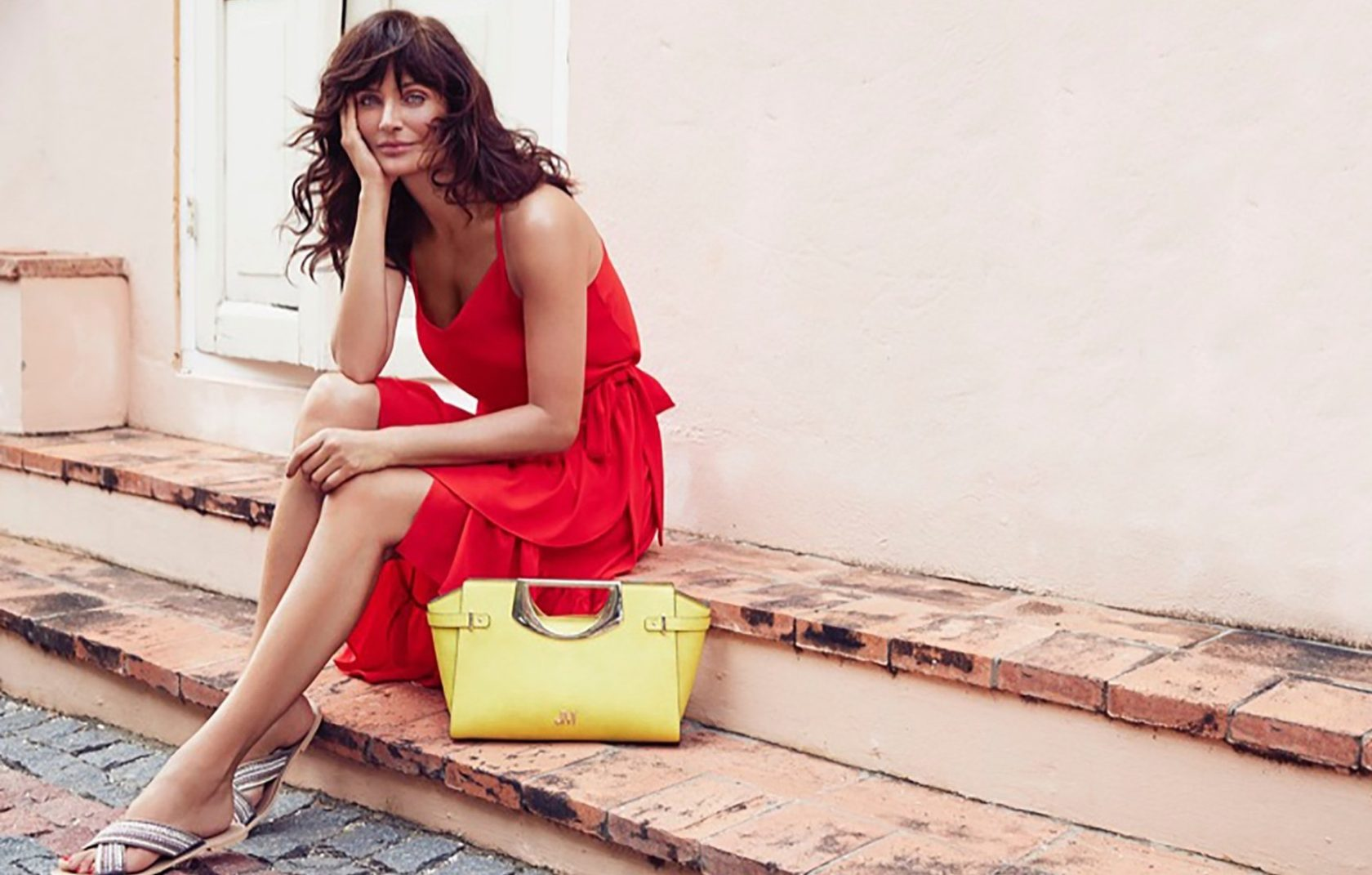 , ,03, MAY 2017. Supermodel Helena Christensen takes on warm weather style for the Summer 2017 campaign from British fashion retailer Debenhams. The new advertisements focus on four unique trends for the colorful shots captured by Max Abadian.In one shot, Helena flaunts her supermodel figure in an one-piece swimsuit with a plunging neckline. And in another image, the Danish beauty poses in a tropical inspired Bardot top with ruffled bikini bottoms. . ©DJ / LAN - 03/5/17 **HANDS OUT pics** ©DJ / LAN - 3/5/17, Image: 331744590, License: Rights-managed, Restrictions: Pictures in this set: 4, Model Release: no, Credit line: Profimedia, Target Press