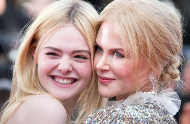 "Elle Fanning and Nicole Kidman leave the Palais des Festivals after the ""How To Talk To Girls At Parties"" screening during the 70th annual Cannes Film Festival at Palais des Festivals on May 21, 2017 in Cannes, France//NIVIERE_1952011/Credit:NIVIERE/VILLARD/SIPA/1705212059, Image: 333100774, License: Rights-managed, Restrictions: , Model Release: no, Credit line: Profimedia, TEMP Sipa Press"