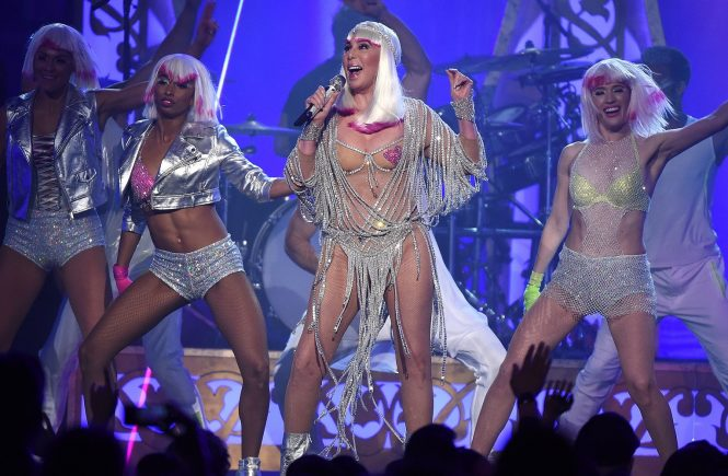 LAS VEGAS, NV - MAY 21: Cher performs on the 2017 Billboard Music Awards at the T-Mobile Arena on May 21, 2017 in Las Vegas, Nevada., Image: 333141554, License: Rights-managed, Restrictions: *** World Rights ***, Model Release: no, Credit line: Profimedia, SIPA USA