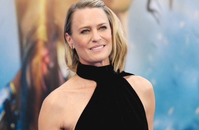 "** RIGHTS: WORLDWIDE EXCEPT IN FRANCE ** Hollywood, CA - Stars arrive to the premiere of ""Wonder Woman"" held at Pantages Theater. Pictured: Robin Wright BACKGRID USA 25 MAY 2017 USA: +1 310 798 9111 / usasales@backgrid.com UK: +44 208 344 2007 / uksales@backgrid.com *UK Clients - Pictures Containing Children Please Pixelate Face Prior To Publication*, Image: 333614392, License: Rights-managed, Restrictions: , Model Release: no, Credit line: Profimedia, AKM-GSI"