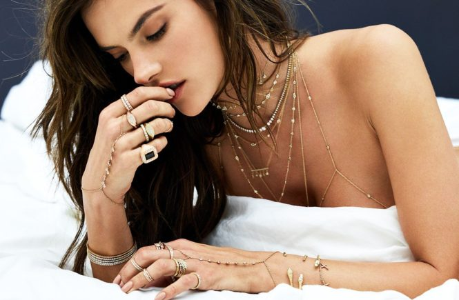 Brazilian fashion model Alessandra Ambrosio poses pregnant for Jaquie Aiche Jewelry 2017 advertising campaign., Image: 335248393, License: Rights-managed, Restrictions: EDITORIAL USE ONLY, Model Release: no, Credit line: Profimedia, Balawa Pics