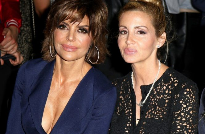 , New York, NY - 9/6/2017- Bella Kicks off NYFW -PICTURED: Lisa Rinna, Camille Grammer -PHOTO by: NANCY RIVERA/INSTARimages.com -Instar_Bella_NYFW_1141511947 Editorial Rights Managed Image - Please contact www.INSTARimages.com for licensing fee email sales@instarimages.com or call 212.414.0207 - Image or video may not be published in any way that is or might be deemed defamatory, libelous, pornographic, or obscene / Please consult our sales department for any clarification or question you may have - http://www.INSTARimages.com reserves the right to pursue unauthorized users of this image or video. If you are in violation of our intellectual property you may be liable for actual damages, loss of income, and profits you derive from the use of this image or video, and where appropriate, the cost of collection and/or statutory damage.