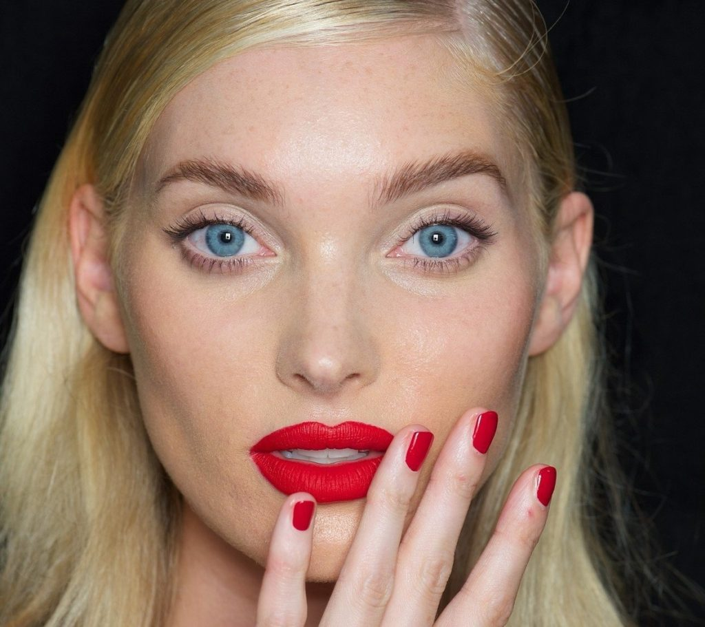 FOR EDITORIAL USE ONLY. Blumarine Backstage Milan Ready to Wear. Spring/Summer 2018. Swedish model Elsa Hosk. ADDITIONAL IMAGES AVAILABLE ON REQUEST., Image: 355000073, License: Rights-managed, Restrictions: , Model Release: no, Credit line: Profimedia, TEMP Camerapress