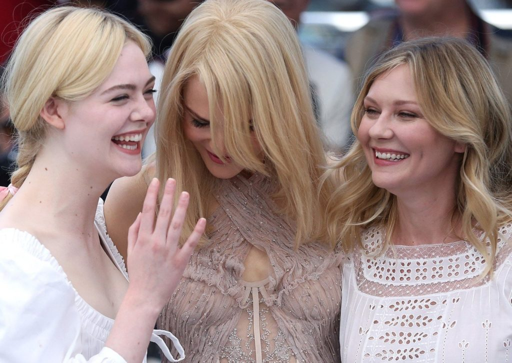 """Elle Fanning (L), Nicole Kidman (C) and Kirsten Dunst arrive at a photocall for the film """"The Beguiled"""" during the 70th annual Cannes International Film Festival in Cannes, France on May 24, 2017. Photo by /UPI, Image: 357117222, License: Rights-managed, Restrictions: , Model Release: no, Credit line: Profimedia, UPI"""