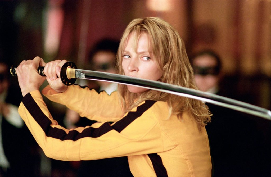Kill Bill: Vol. 1 (2003) Uma Thurman *Filmstill - Editorial Use Only*, Image: 358493869, License: Rights-managed, Restrictions: Filmstill // HANDOUT / EDITORIAL USE ONLY! Please note: Fees charged by the agency are for the agencyÕs services only, and do not, nor are they intended to, convey to the user any ownership of Copyright or License in the material. The agency does not claim any ownership including but not limited to Copyright or License in the attached material. By publishing this material you expressly agree to indemnify and to hold the agency and its directors, shareholders and employees harmless from any loss, claims, damages, demands, expenses (including legal fees), or any causes of action or allegation against the agency arising out of or connected in any way with publication of the material. Images should only be used in connection with the event/movie (etc), e.g.: Real Name as Character Name in Film Title (year). Filmstill // HANDOUT / EDITORIAL USE ONLY! Please note: Fees charged by the agency are for the agency's services only, and do not, nor are they intended to, convey to the user any ownership of Copyright or License in the material. The agency does not claim any ownership including but not limited to Copyright or License in the attached material. By publishing this material you expressly agree to indemnify and to hold the agency and its directors, shareholders and employees harmless from any loss, claims, damages, demands, expenses (including legal fees), or any causes of action or allegation against the agency arising out of or connected in any way with publication of the material. Images should only be used in connection with the event/movie (etc), e.g.: Real Name as Character Name in Film Title (year)., Model Release: no, Credit line: Profimedia, Film Stills