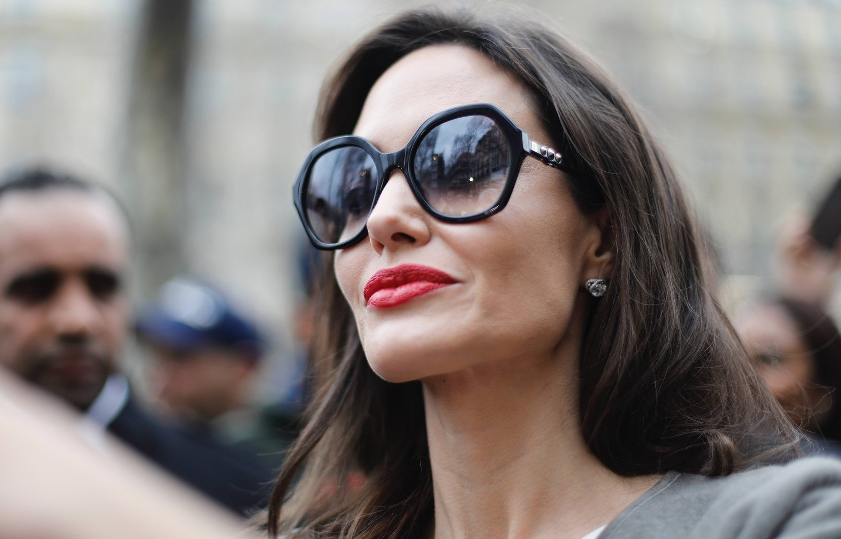 Angelina Jolie goes to Guerlain perfumes shop on the Champs-Elysees for 2nd day of shooting the new advertising of the french fragrance on January 30, 2018 in Paris, France., Image: 361836574, License: Rights-managed, Restrictions: , Model Release: no, Credit line: Profimedia, Abaca