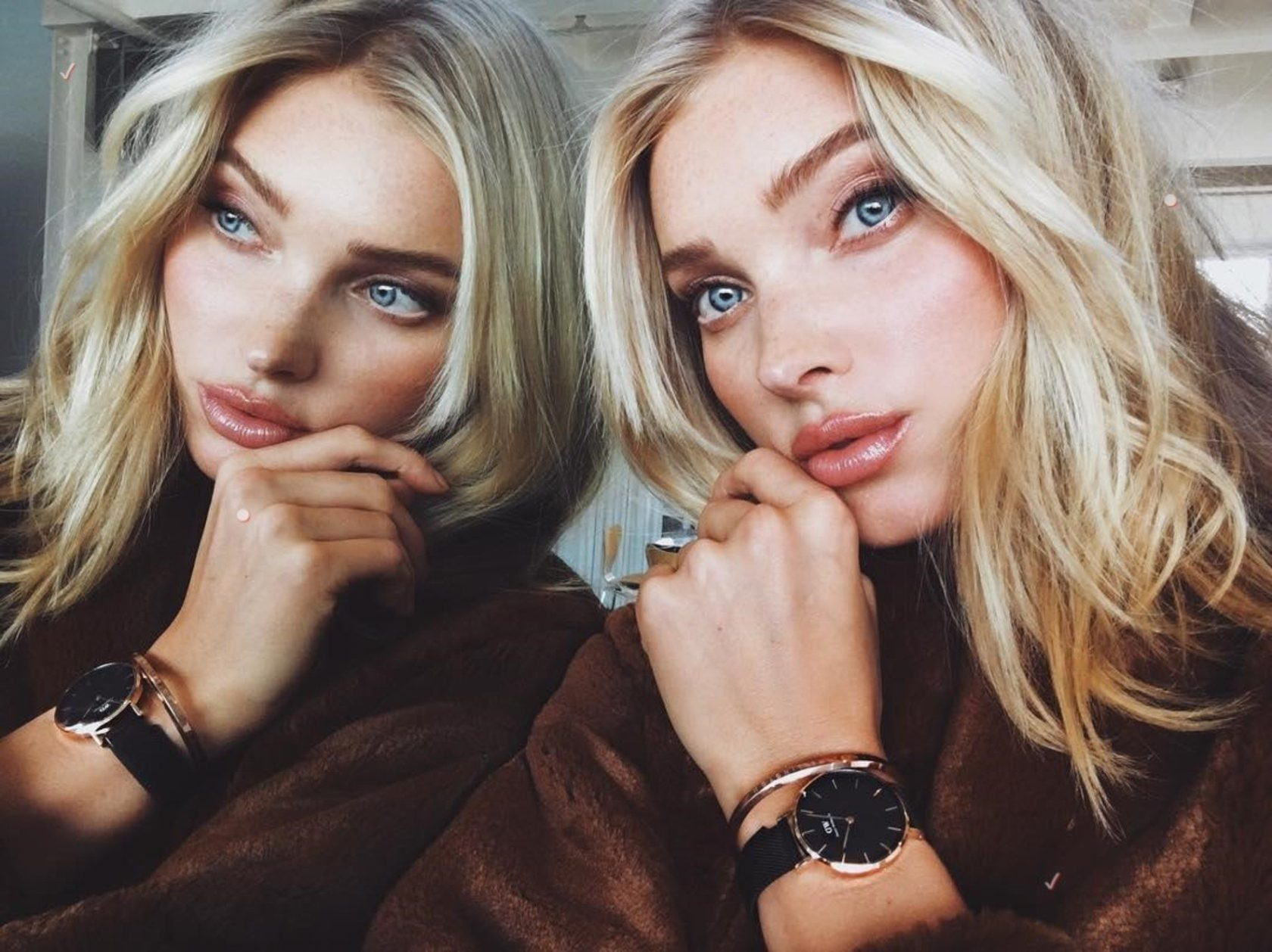 """Elsa Hosk (hoskelsa / 01.02.2018): """"Time to reflect with my @DanielWellington #DWClassicPetite watch. Get 15% off all purchases with my code ELSAHOSK at danielwellington.com. #Ad"""""""", Image: 362269269, License: Rights-managed, Restrictions: , Model Release: no, Credit line: Profimedia, Face To Face A"""