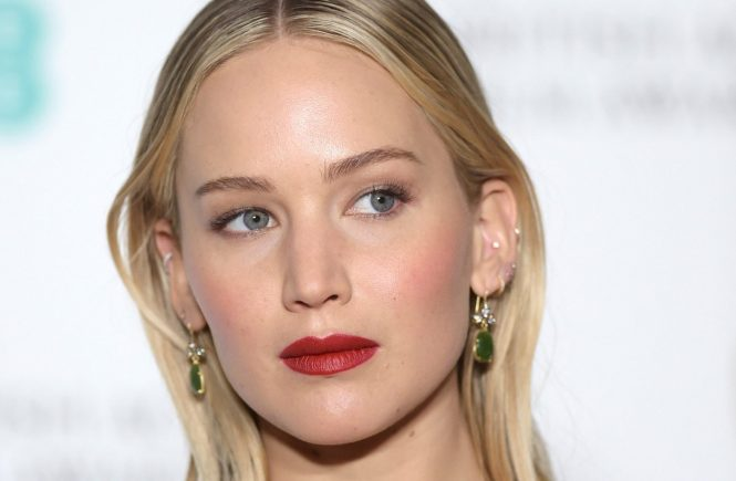 Jennifer Lawrence attending the EE British Academy Film Awards 2018, The BAFTAs, held at the Royal Albert Hall in London on 18/02/2018., Image: 363670280, License: Rights-managed, Restrictions: , Model Release: no, Credit line: Profimedia, TEMP Camerapress