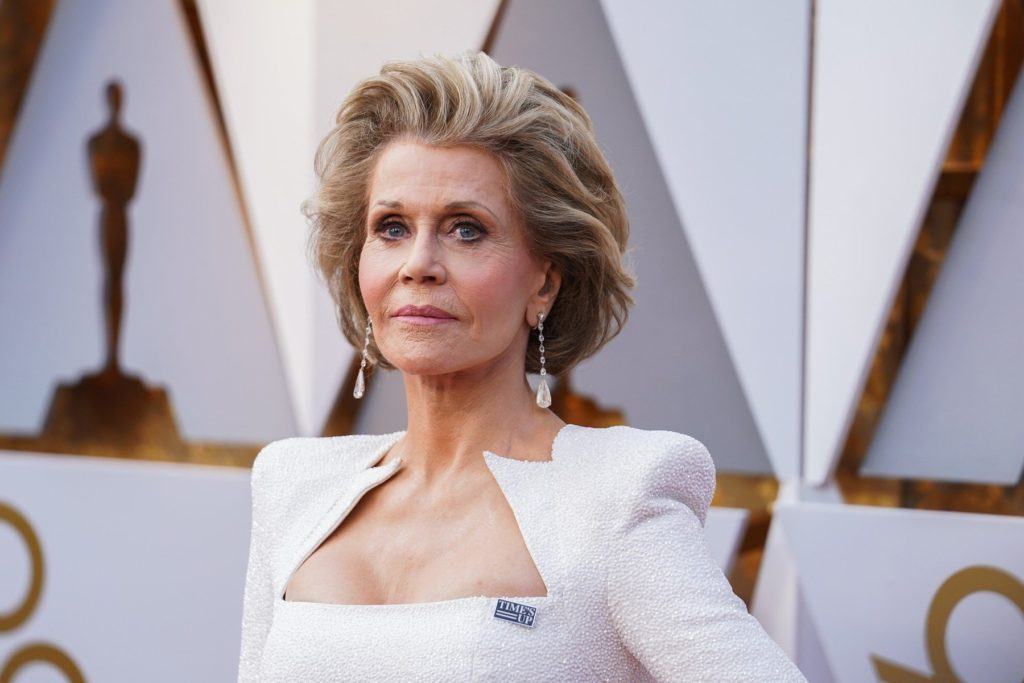 Jane Fonda walking on the red carpet during the 90th Academy Awards ceremony, presented by the Academy of Motion Picture Arts and Sciences, held at the Dolby Theatre in Hollywood, California on March 4, 2018., Image: 365049692, License: Rights-managed, Restrictions: *** World Rights ***, Model Release: no, Credit line: Profimedia, SIPA USA
