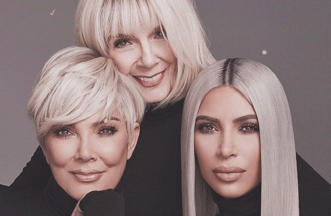 "Kim Kardashian (kimkardashian / 13.03.2018): ""MARCH 23 CONCEALER KITS launching on KKWBEAUTY.COM thanks to my mom & grandma for being the best models and going blonde for this shoot! Im so proud that my concealers have anti aging properties and we used models ranging from their 20s to 80s! Go to @kkwbeauty to see all of our swatches and product shots!"", Image: 365973208, License: Rights-managed, Restrictions: , Model Release: no, Credit line: Profimedia, Face To Face A"
