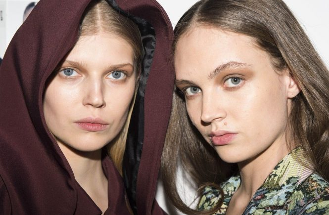 Models backstage, before the fashion show,Backstage, Beauty, make up, Womenswear, winter 2018 2019,//Z-PIXEL-FORMULA_C_218/Credit:pixelformula/SIPA/1804041650, Image: 367715790, License: Rights-managed, Restrictions: , Model Release: no, Credit line: Profimedia, TEMP Sipa Press
