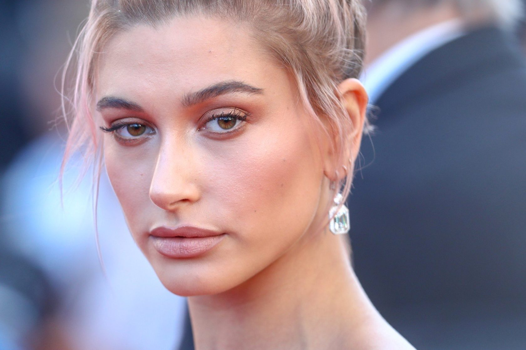 Hailey Baldwin attends the screening of 'Girls Of The Sun (Les Filles Du Soleil)' during the 71st annual Cannes Film Festival at Palais des Festivals on May 12, 2018 in Cannes, France.