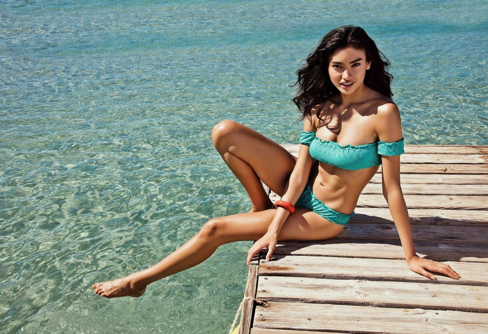 Shes posed for some of the hottest brands and mags on the planet and for her latest turn, Australian-Swedish-Indian model Kelly Gale looks out of this world. The 23-year-old Chanel, Victorias Secret and Sports Illustrated Swimsuit star has now been snapped up by Italian brand Yamamay, and is seen here duly modeling some swimsuits from the summer 2018 collection. Posing in front of palm trees, the ocean in the background, and sitting on a wooden dock, Kelly strike some seriously sexy poses for the Puerto Rico campaign, which is also raising awareness about the environment with a #savetheocean hashtag. And if we are to expect more shots of Kelly posing in her bikini by the ocean, then its certainly worth saving. 30 May 2018, Image: 373412039, License: Rights-managed, Restrictions: World Rights, Model Release: no, Credit line: Profimedia, Mega Agency