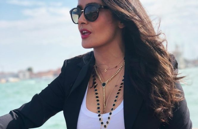 "Salma Hayek releases a photo on Instagram with the following caption: ""I u2764ufe0f Venice""., Image: 384988044, License: Rights-managed, Restrictions: *** No USA Distribution *** For Editorial Use Only *** Not to be Published in Books or Photo Books *** Handling Fee Only ***, Model Release: no, Credit line: Profimedia, SIPA USA"